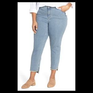 Eileen Fisher Fray Step Hem Ankle Jeans